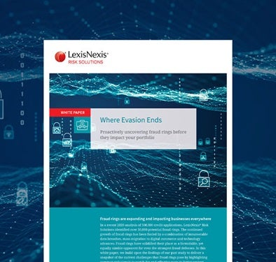 LexisNexis Risk Solutions Fraud Rings White Paper