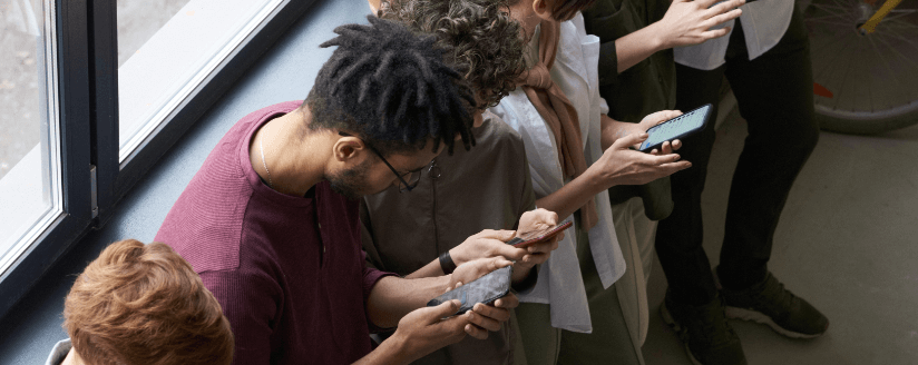 group of mobile users