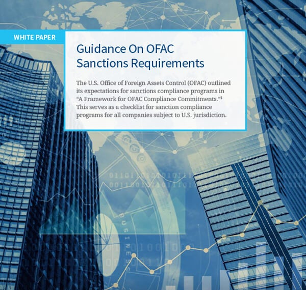 OFAC clarifies its expectations for sanctions compliance programs