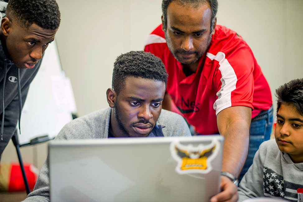 Coders plan their project at CodeDay
